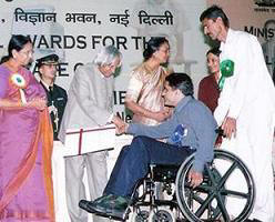 Receiving - 'National Role Model' Award from the President Dr APJ Abdul Kalam
